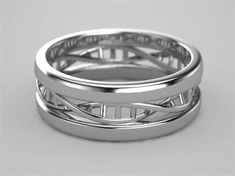 DNA Ring in Sterling Silver   Dna, Rings and Double Helix