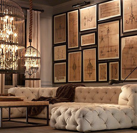 this is unique... cool... it's sectional, i believe so modular... happens to be restoration hardware.....
