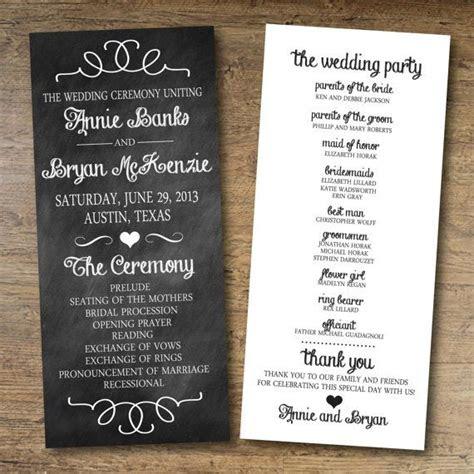 lovely  printable wedding program templates