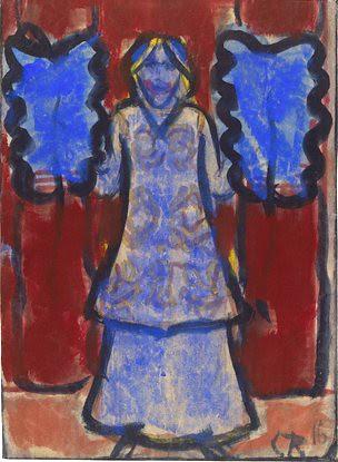 Rohlfs, Christian (1849-1938) - 1916 Blue Fan Dancer (Museum of Modern Art, New York City) by RasMarley