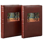 Old Town Bonded Leather Book Bound Photo Albums-2-pack, Brown