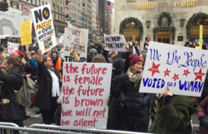 ANti-trump protest n New York City on Dec. 12. (Photo: Twitter)