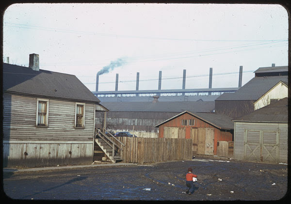 South Chicago- vacant lot near Steel mills.