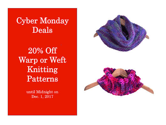 Knitting Pattern Sale and Cyber Monday Knitting Deals