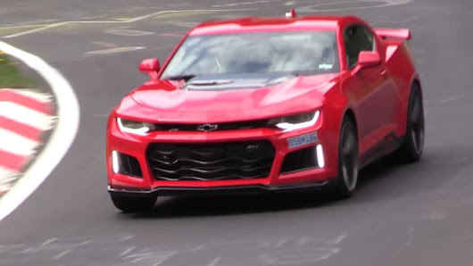 Chevy Camaro ZL1 spotted at Nurburgring looking mean - Autoblog