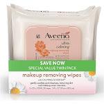 AVEENO Ultra-Calming Makeup Removing Wipes for Sensitive Skin, Twin Pack 50 ea by Pharmapacks