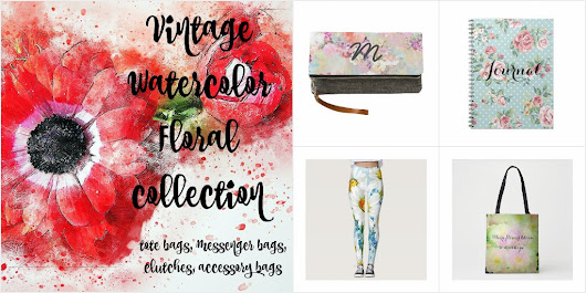 Vintage Watercolor Floral Collection