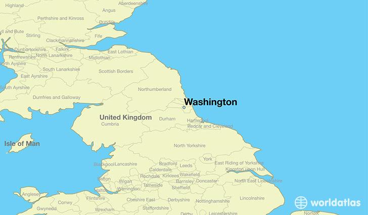 Where Is Washington England Washington England Map