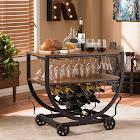 Carbon Loft Cohn Industrial Dark Brown Cart