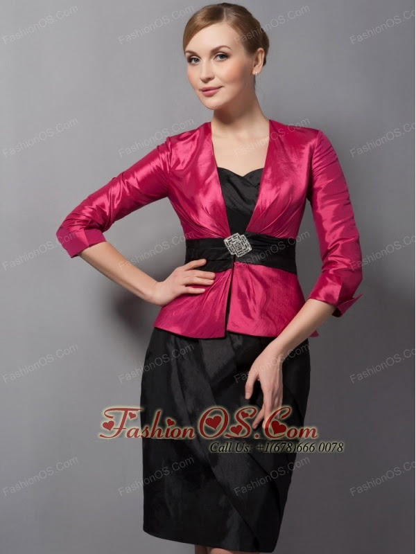 and Fuchsia Mother Of The Bride Dress with Jacket Taffeta