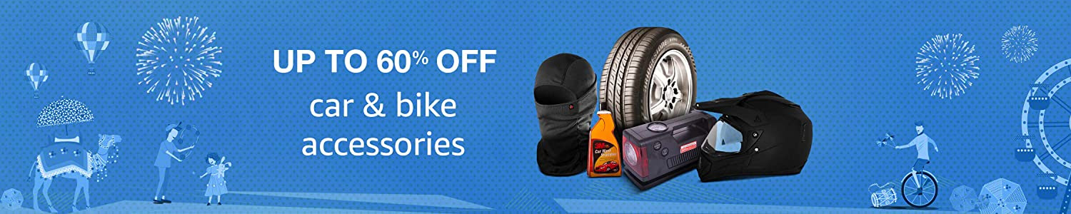 Up to 60% off car and bike accessories