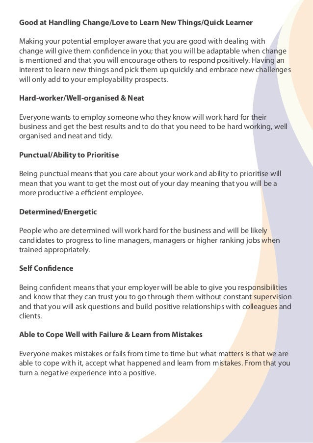 Guide to talking about Strengths & Weaknesses in ...