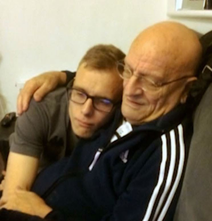 Alex was reunited with his granddad after Jordan Worth told him that he was 'dead'. Credit: BBC Three
