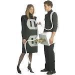 Plug and Socket Adult Costume One Size - 282 - Black - One Size