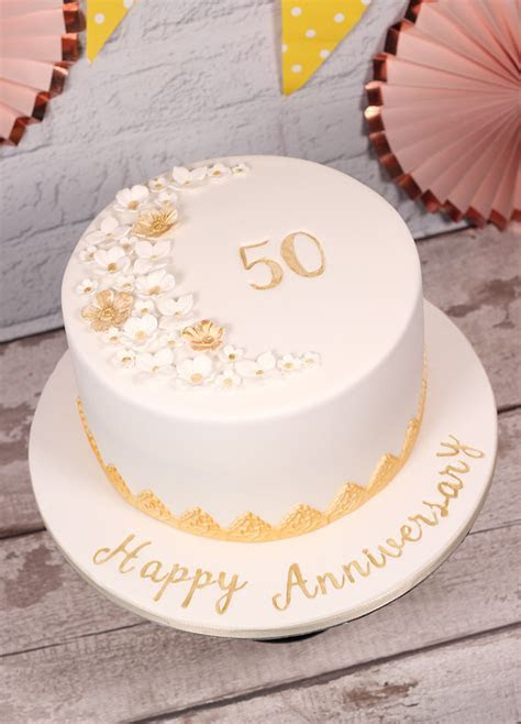 50th Wedding Anniversary Cake   Cakey Goodness