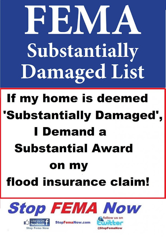 Dear Roy Wright - Why are we not getting substantial flood insurance settlements for Substantially Damaged Homes? -