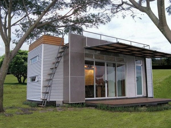 20 Shipping Container With A Rooftop Deck And Room For Four
