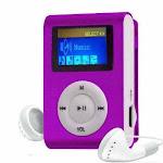 Mini Tune Buddy Jog And Walk With MP3 Player And FM Radio - COLOR: PURPLE