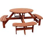 Leisure Season Round Picnic Table, Brown(Cedar)