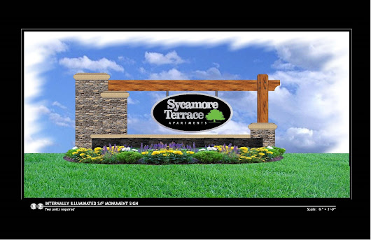 Sycamore Terrace Apartments Debuts New Designs for Monument Signs