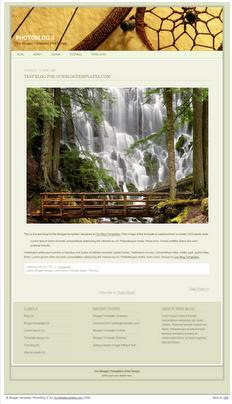 PhotoBlog II Template by Our Blogger Templates