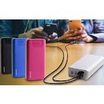 Aduro PowerUp Trio 30,000 mAh SmartCharge Dual USB Backup Battery Black