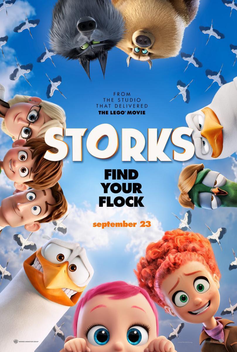 Nos VAmos Al Cine, película, Cine, cartelera, Dibujos, animación, pajaros, cigueñas, animales, paternidad, Storks, warner, comedia, infantil, 3d, blog de cine, solo yo, blog solo yo, blogger alicante,