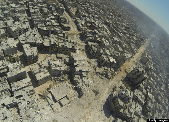 homs alkhalidiyah syria neighbourhood destroyed
