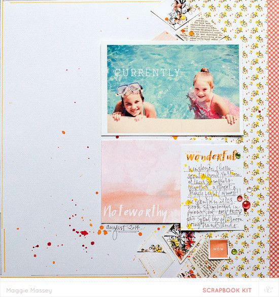 Currentlya scrapbooking layout