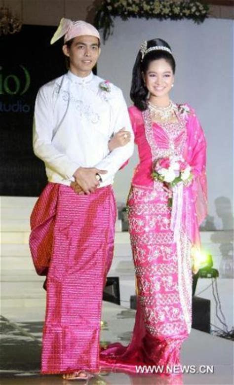 1000  images about Burmese Tradtional dress on Pinterest