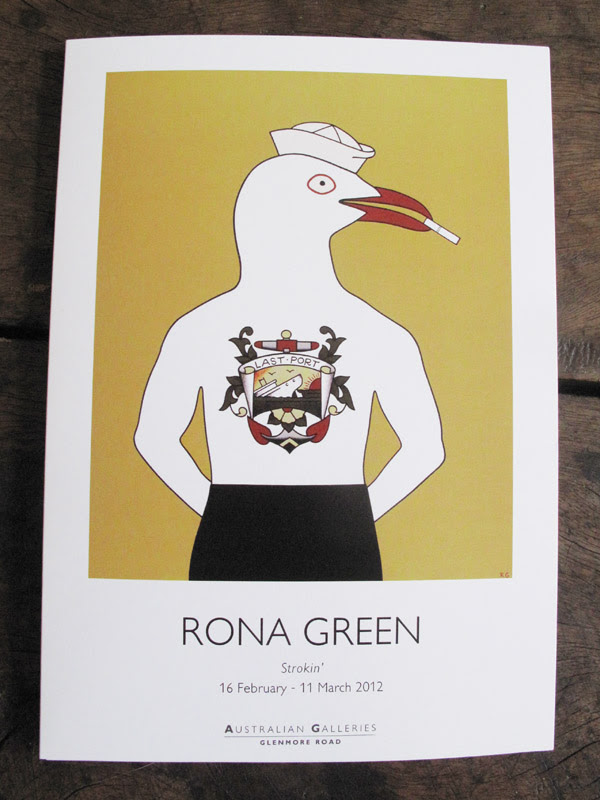 Greasy Rhys, catalogue Cover, Rona Green at Australian Galleries Glenmore Road Paddington