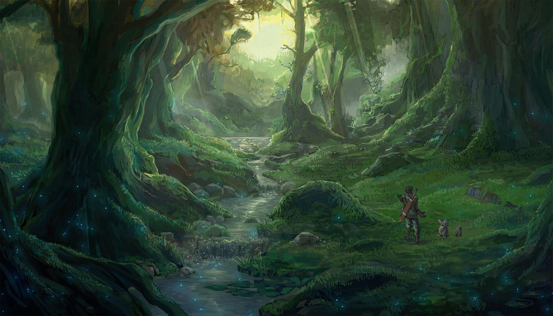 Anime Forest Backgrounds - Wallpaper Cave