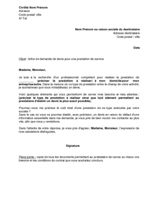 Application Letter Sample: Modele De Lettre Demande De Sous Traitance