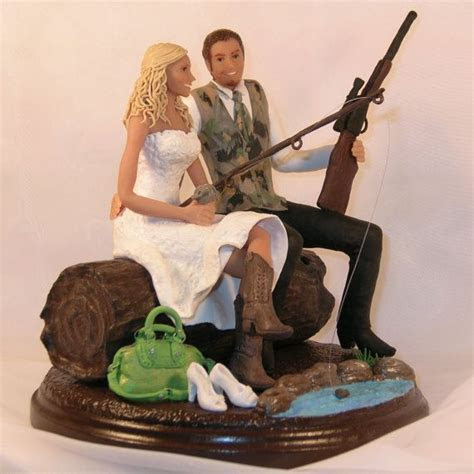 Hunting/Fishing Wedding Cake Topper Cowboy by