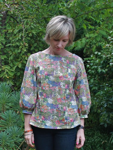 Tilly's Mathilde blouse in Liberty Archipelago