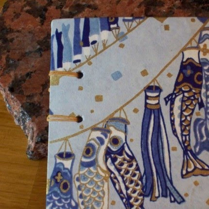 photo of coptic-stitch journal