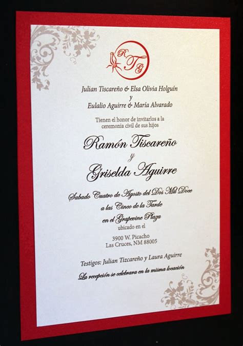 radiant red invitation spanish  thefunkyolive