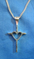 Custom Sterling Silver cross pendant by Payne's Custom Jewelry