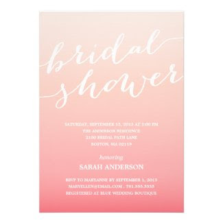 OMBRE SHOWER | BRIDAL SHOWER INVITATION