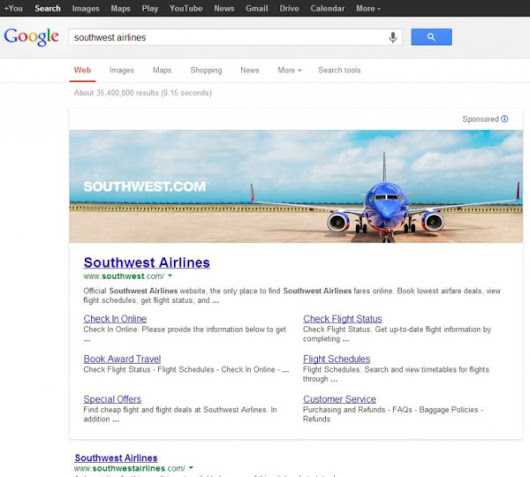 Google Testing Huge Banner Ads For Branded Queries
