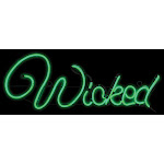 Gemmy Light Glo Wicked Sign Lighted Halloween Decoration 10-1/4 in. H x 13-1/2 in. W 1 pk - Case Of: 1; Each Pack Qty: 1