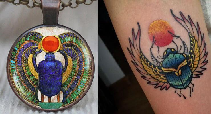Significado Del Escarabajo Egipcio Tatuajes Amuletos Esotérico