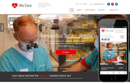 We Care a Medical Category Flat Bootstrap Responsive Web Template - w3layouts.com