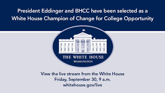 "BHCC Boston on Twitter: "".@PamEddinger  & BHCC selected as a @WhiteHouse Champions of Change. Live stream today at 9 am  """