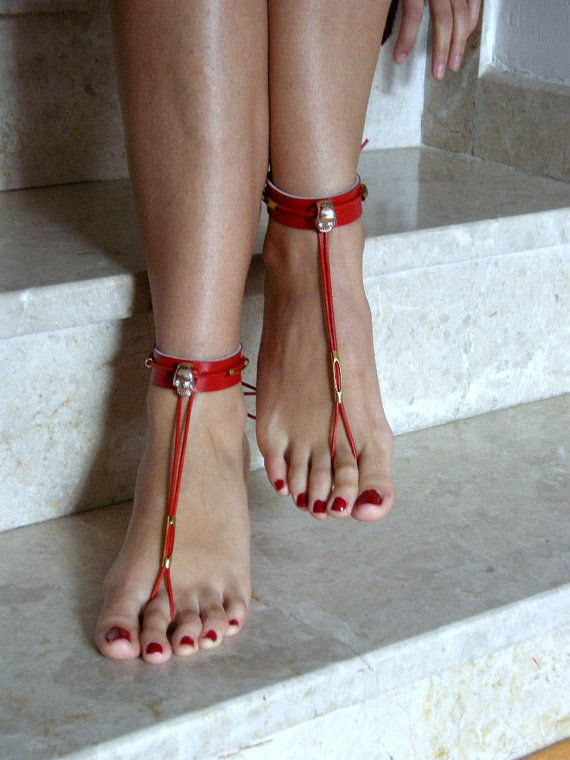 Barefoot Sandals leatherBikini  WomenBeach shoes by SibelDesign, $25.00