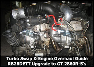 Turbo Swap Guide on RB26 Engine Rebuild and Overhaul