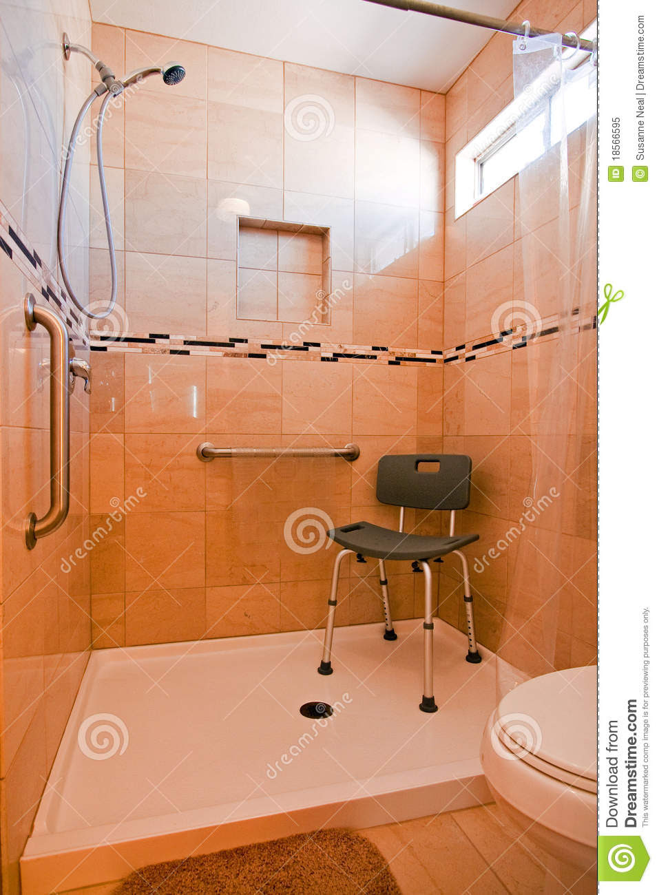 Handiced Shower Stall Royalty Free Stock Photo Image 18566595