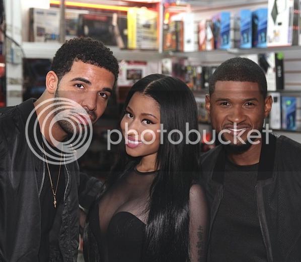 Snapshot: Usher, Drake & Nicki Minaj in the same pic? Very appealing...