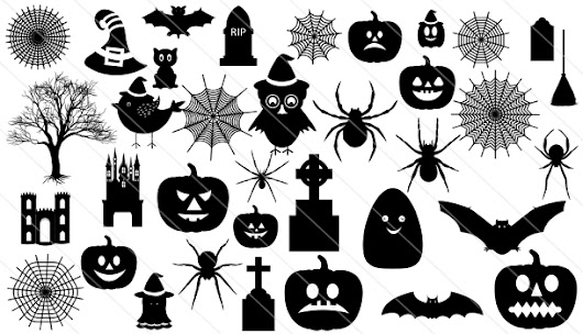Halloween silhouette Vector (36) - Silhouette Vector Stock