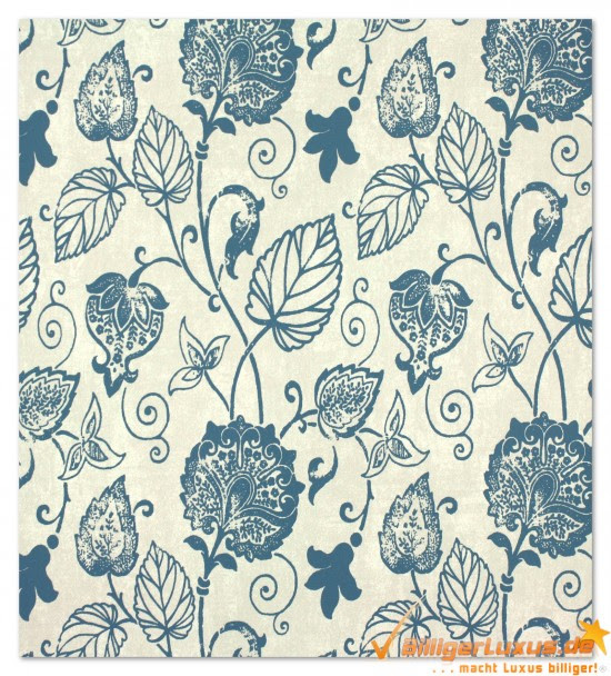 Non-woven wallpaper Scandinavian Vintage Marburg 51624 blue ...